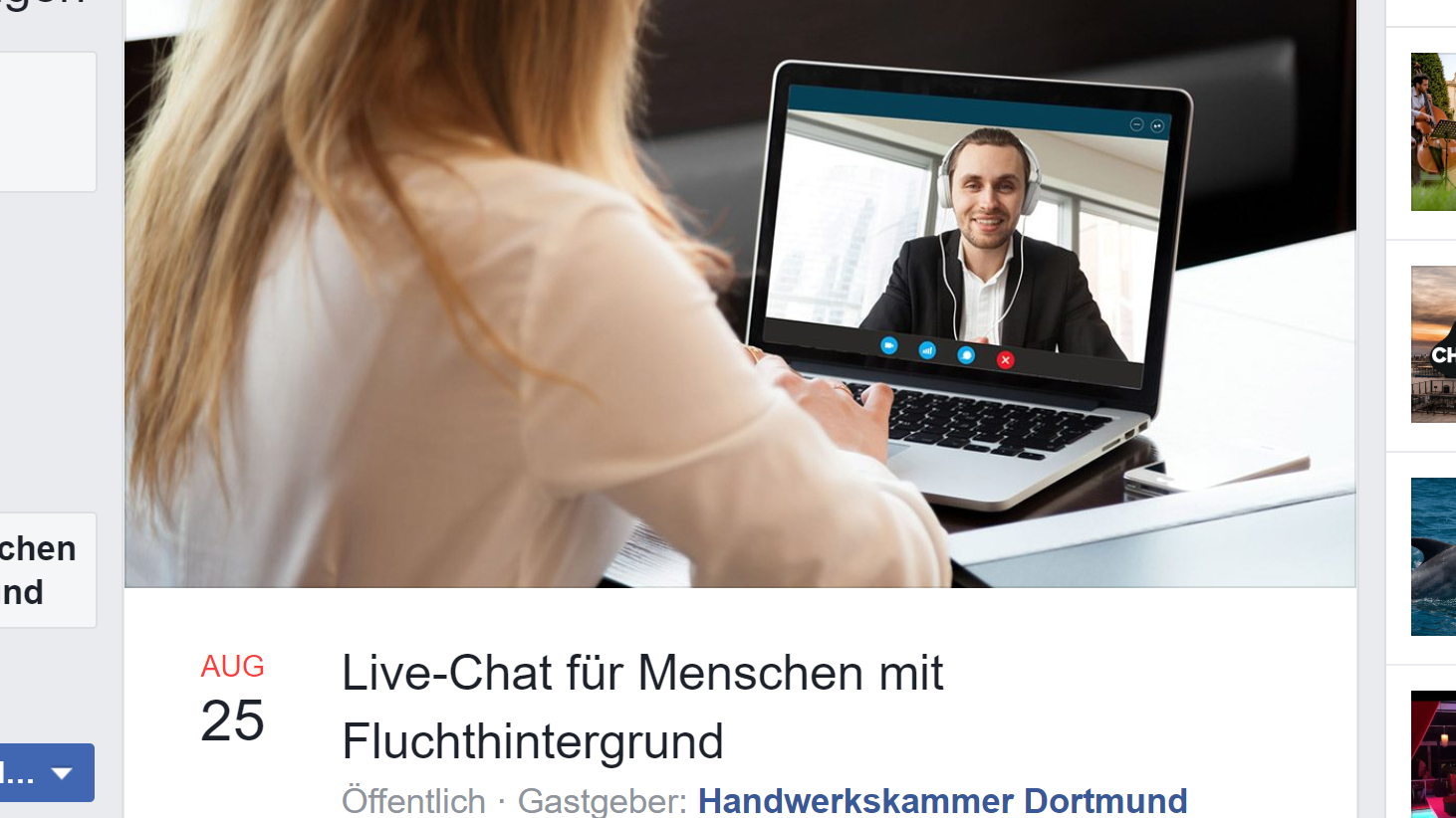 Live-Chat für Menschen mit Fluchthintergrund